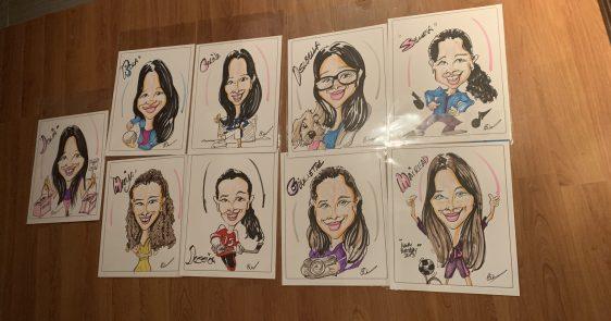 Birthday caricatures