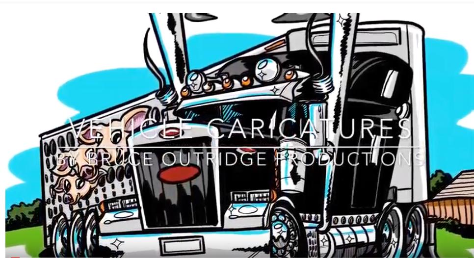 vehicle caricature image