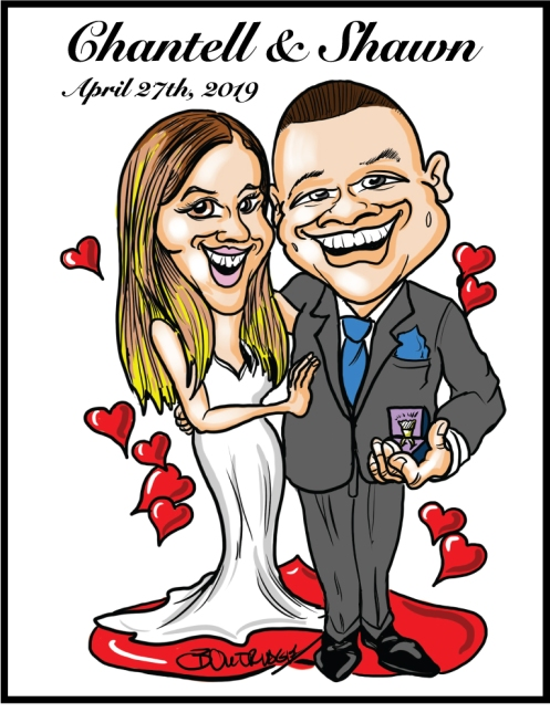 Chantell-Shawn-Caricature
