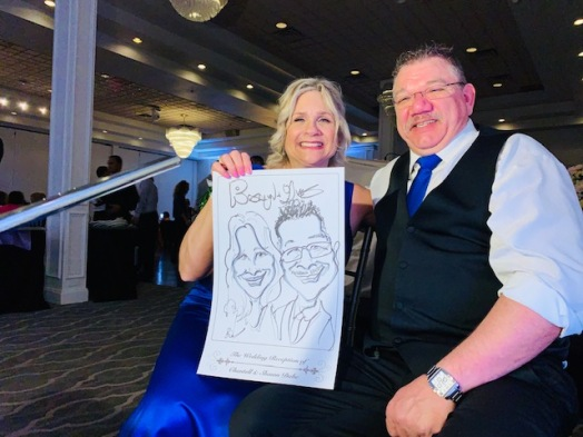 Chantell and Shawn Wedding Caricatures