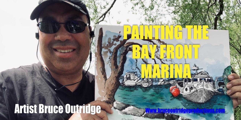 Painting Bay Front Marina