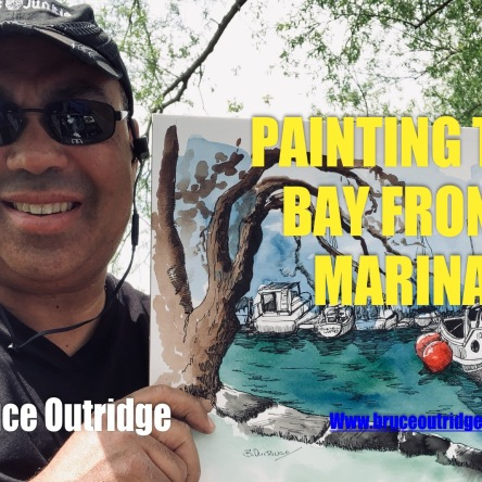 Painting Bay Front Marina