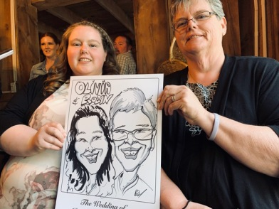 Josiah and Taylor's Wedding Caricatures
