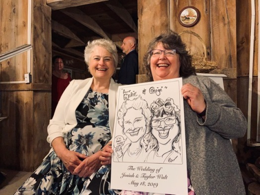 Josiah and Taylor's Wedding Caricatures
