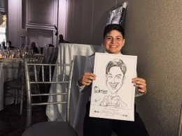Cristina and Salvatores Wedding Caricatures