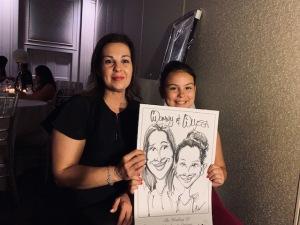 Cristina and Salvatores Wedding Caricatures