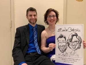 Scott and Sheldane's Wedding Caricatures