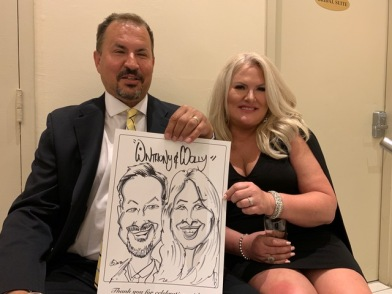 Scott and Sheldane's Wedding Caricatures