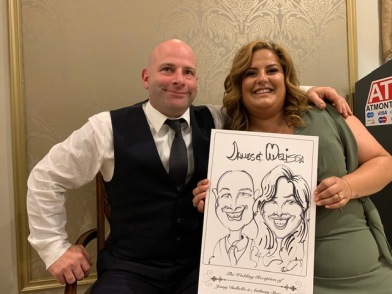 Jenny and Anthony's Wedding Caricatures