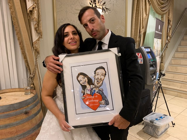 Jenny and Anthony's Wedding Caricatures-June 22, 2019