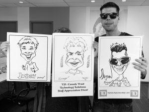 TD Employee Appreciation Week Caricatures