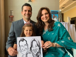 Ruhan and labiba's Wedding Caricatures