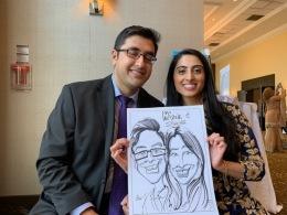 Ruhan and labiba's Wedding Caricatures