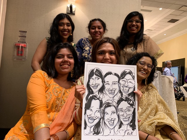 Ruhan and Labiba's Wedding Caricatures-July 7, 2019