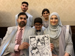 Sana Ahmad Wedding Caricatures