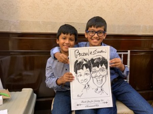 Sana Ahmad Wedding Caricatures