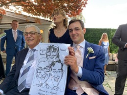 Aloma and Angelo's Wedding Caricatures