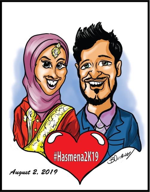 Sana-AhMad-Gift-caricature