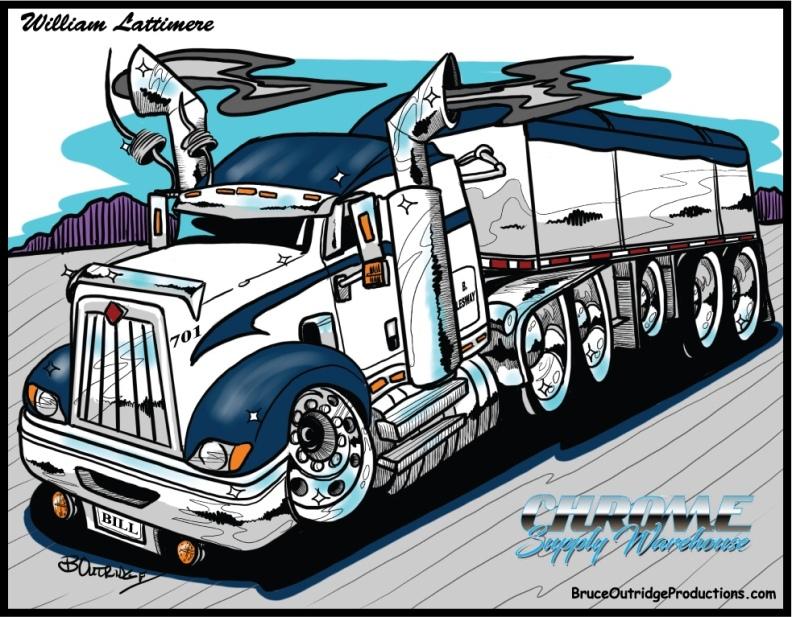 Truck caricature
