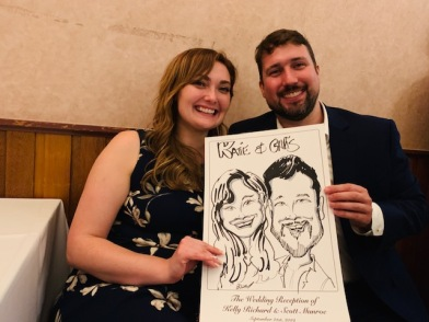Scott and Kelly Munroe Wedding Caricatures