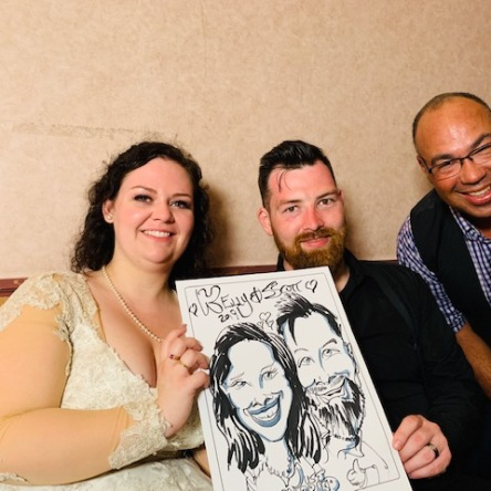Scott and Kelly Munroe Wedding Caricatures