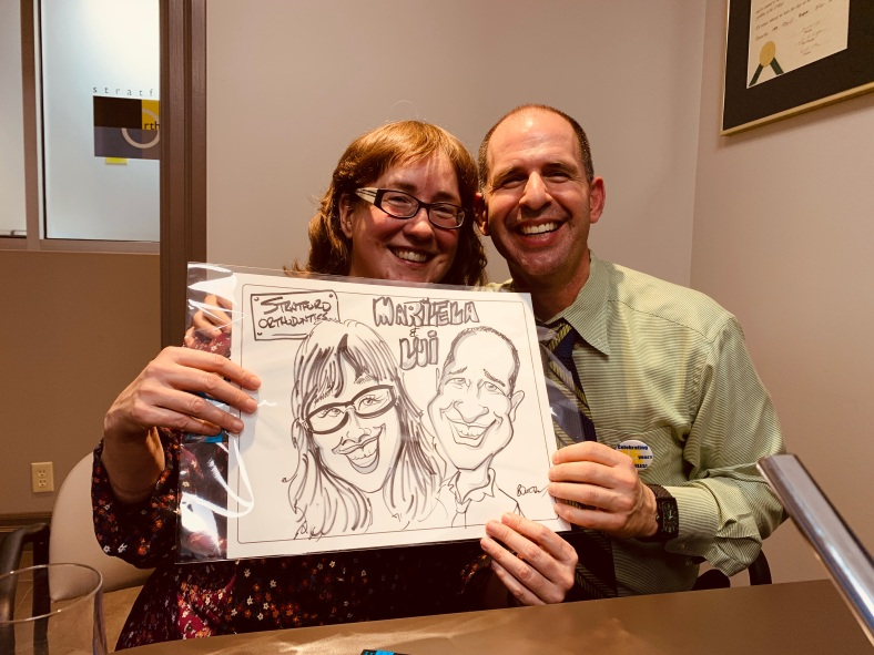 Stratford Orthodontics Caricature Event