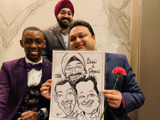 BMO Christmas Party Caricatures-November 30, 2019