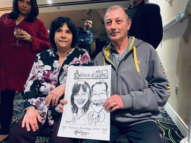 Rosedale Christmas Party Caricatures 2019