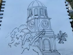 Garrison Clock Tower Sketch walk