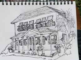 Bruce draws George Washington House