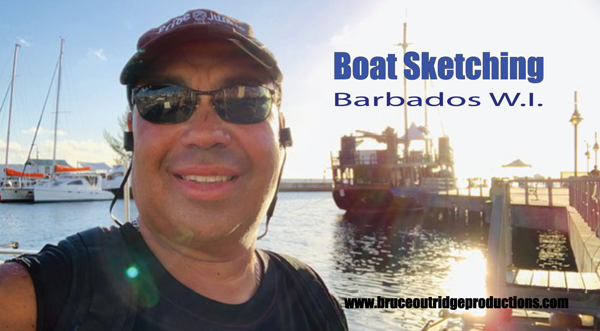 Boat Sketching in Bridgetown Barbados W.I.