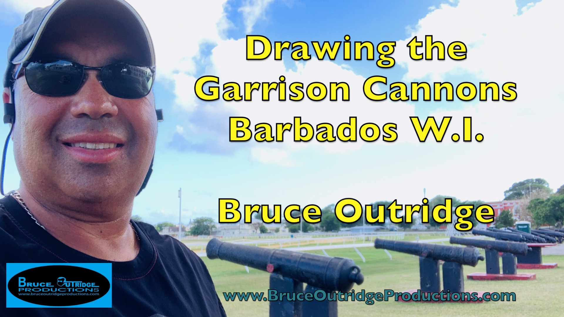 Bruce Outridge Draws Garrison Cannons in Barbados W.I.