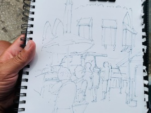 Bridgetown Sketch Walk