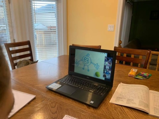 Online Art Lesson with bruce Outridge Productions