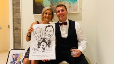 Olivia Clewley Wedding Caricatures