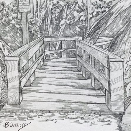 Bruce Outridge-Pencil Bridge drawing