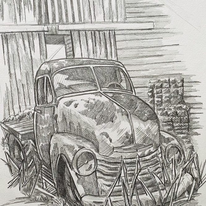 Bruce Outridge-Truck Drawing