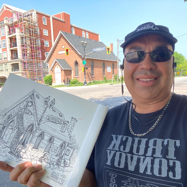 Drawing the Navy House-Burlington ON