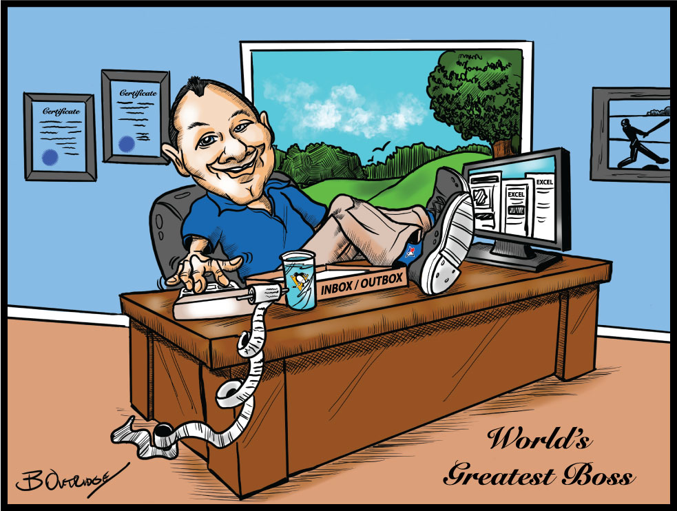 Caricaturing a Colleague for Retirement: Client Testimonial