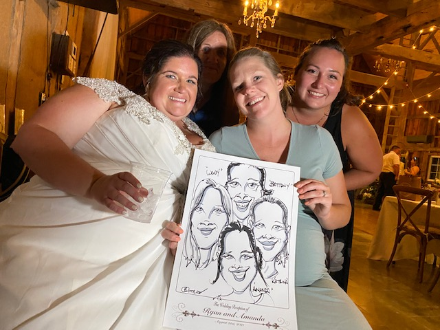 Weddings Return and Caricatures are a Big Hit!