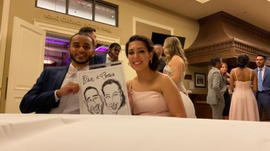 Maria and Ehsans Wedding Caricatures