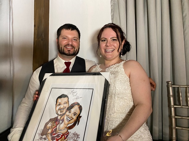 Marisa and Adrian's Wedding Caricatures-Sept 12th, 2021