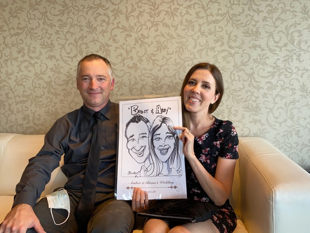 Amber and Brians Wedding Caricatures